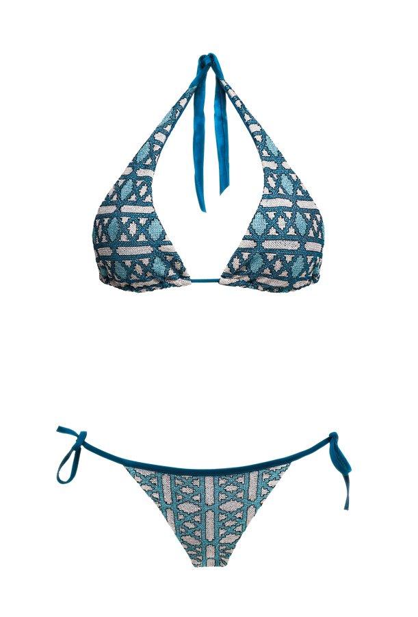 Geo Petrol, Halter Neck Bikini, MITOS Swimwear