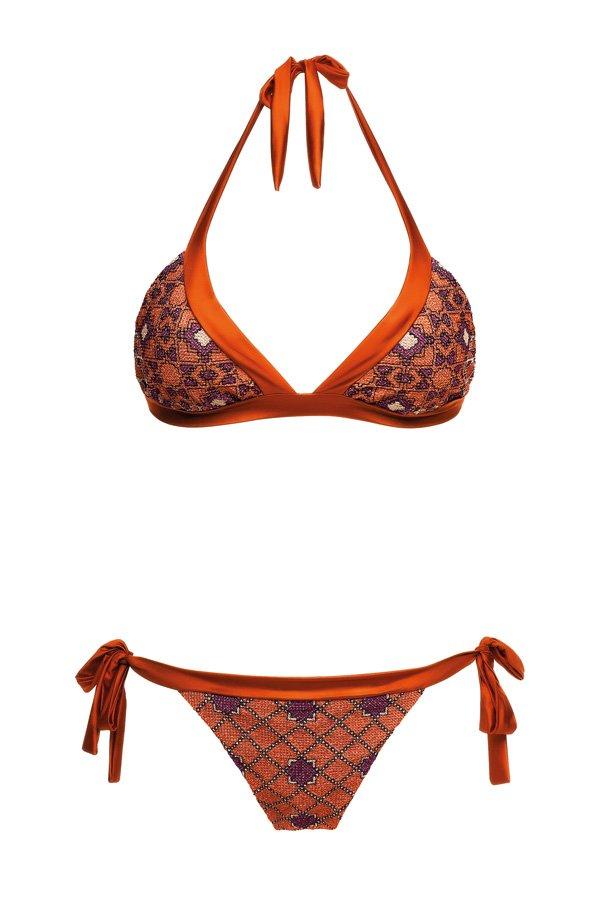 Starlight Rusty Orange, Halter Neck Bikini, MITOS Swimwear