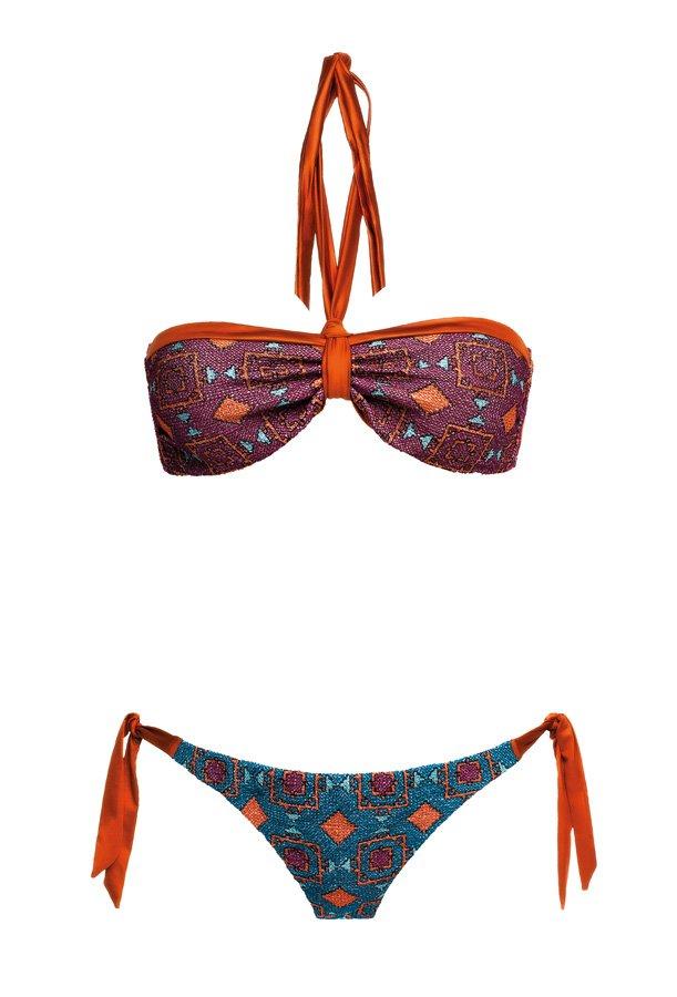 Terracota Rusty Orange, Strapless Bikini, MITOS Swimwear