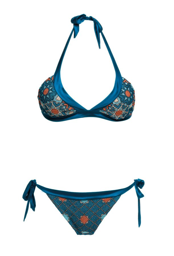 Starlight Petrol, Halter Neck Bikini, MITOS Swimwear