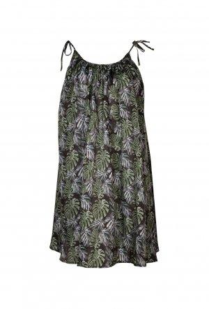 Mitos_SS18_Beach_Mini_Dress_Bananas_Black