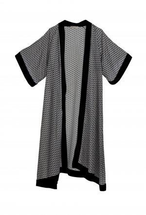 kimono zig zag black